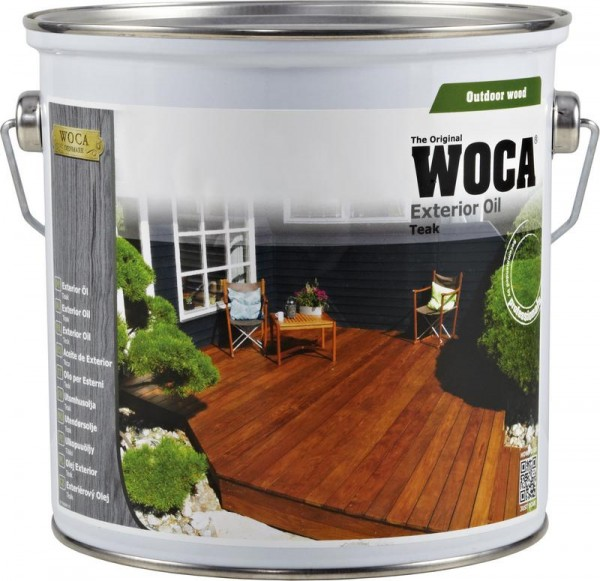 WOCA Terrassen Exterior Öl Teak 2,5 liter
