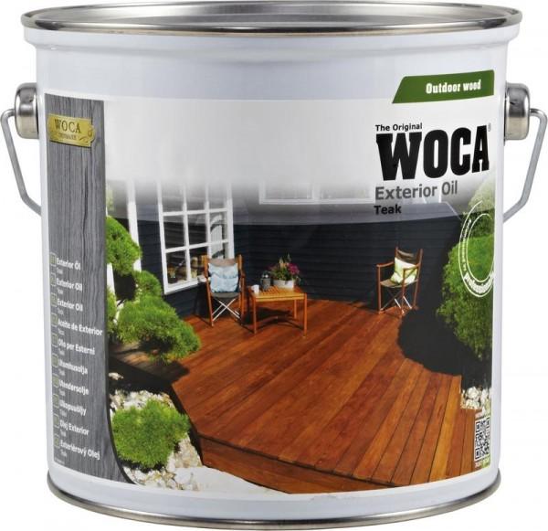WOCA Terrassen Exterior Öl Teak 2x2,5 liter incl Flächenstreicher