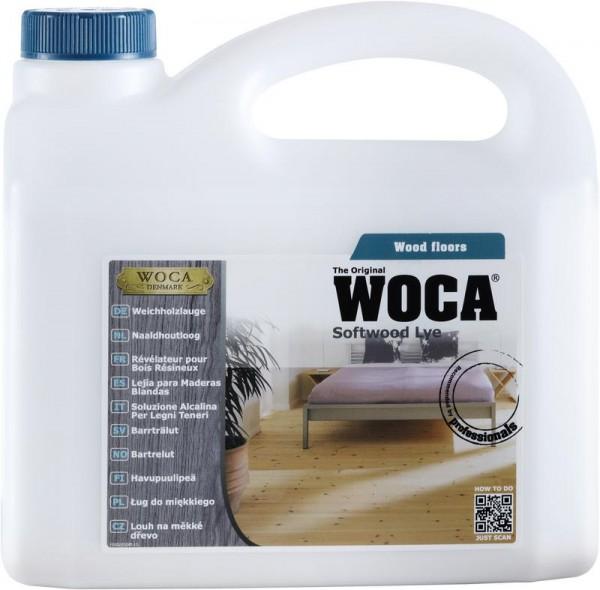 WOCA Weichholzlauge mit weißen Pigmenten 2,5 liter