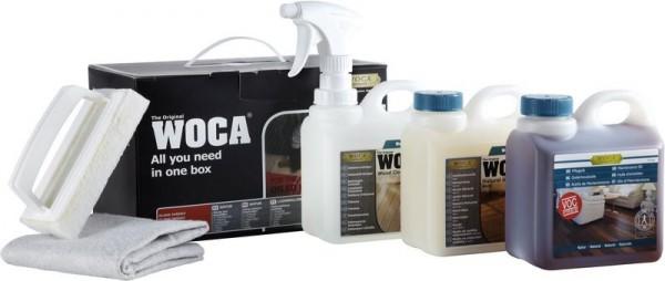 WOCA Pflegebox Natur mit Pflegeöl