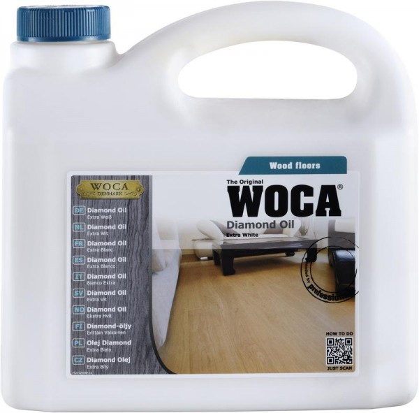 WOCA Diamond öl 13 % extra weiß 1 liter